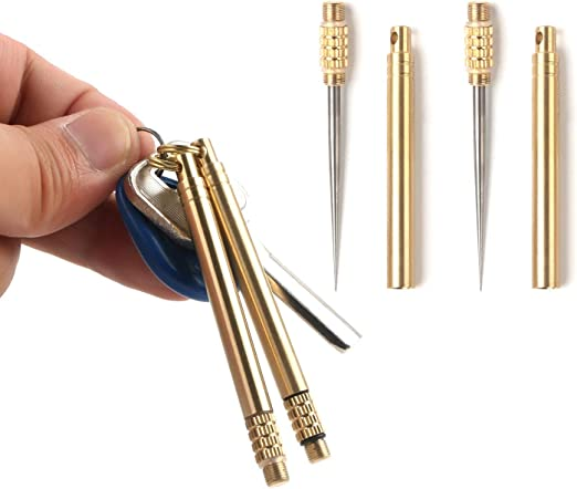 1x Portable Titanium Alloy Waterproof Metal Toothpick Keyring