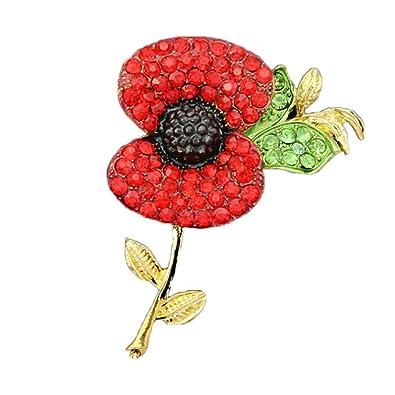Amazon red poppy flower pin lapel badge banquet enamel amazon red poppy flower pin lapel badge banquet enamel remembrance brooch style1 jewelry mightylinksfo