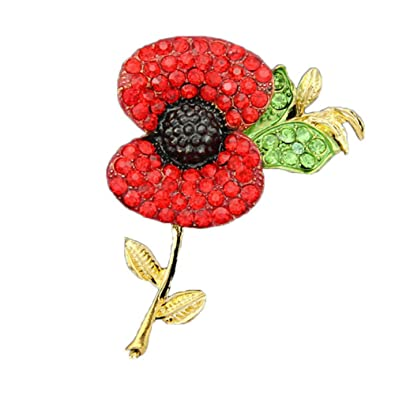 Amazon red poppy flower pin lapel badge banquet enamel red poppy flower pin lapel badge banquet enamel remembrance brooch style1 mightylinksfo