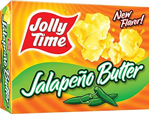 Jolly Time Microwave Popcorn: Jalapeno Butter (Pack of 4) 3 Count (9 oz) ()