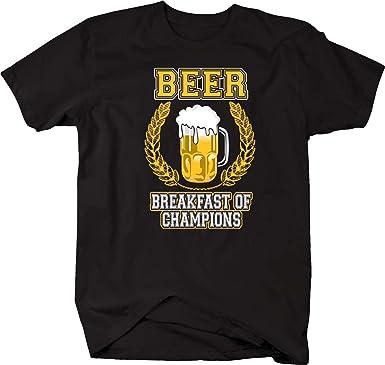 c61aeb166 Amazon.com: Pike Outdoors Beer Frosty Mug Breakfast Of Champions T Shirt:  Clothing