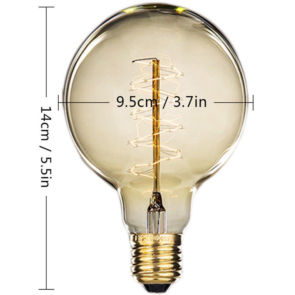 40W E27 Vintage Filament vis Ampoule Old Fashioned Style Edison Verre Lampe Antique T10-130MM