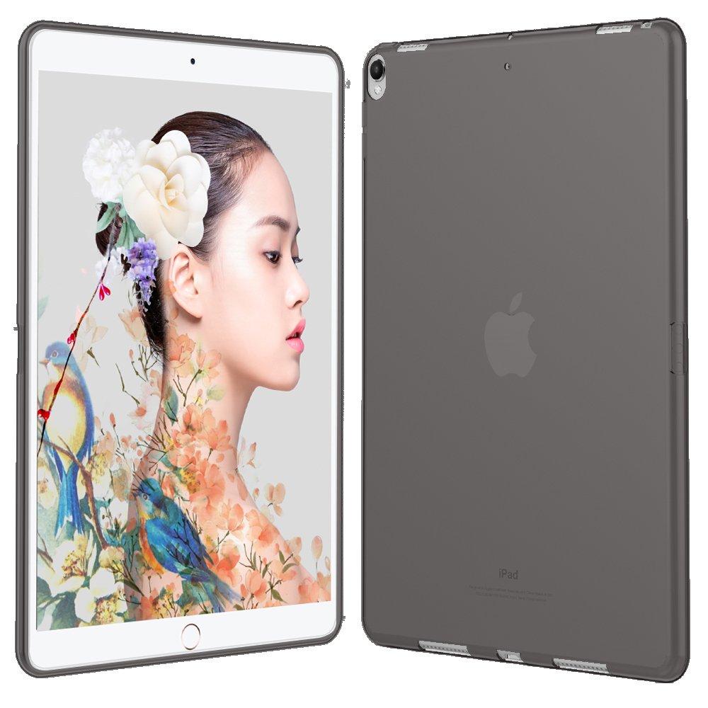 HBorna Cover per iPad Pro 10.5 2017 Custodia, Custodia [Crystal Clear] Case Flessibile Silicone TPU Trasparente [Ultra sottile] [Leggera] Cover per Apple iPad Pro 10,5 Pollice - Grigio
