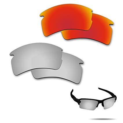 6f651fa0c7f74 Image Unavailable. Image not available for. Color  Fiskr Anti-Saltwater  Polarized Replacement Lenses for Oakley Flak 2.0 XL ...