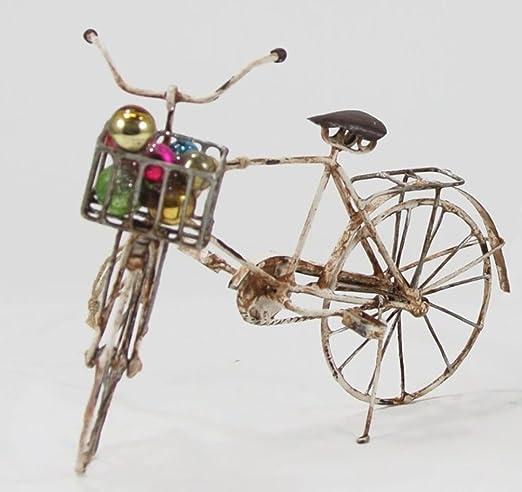 Cody Foster marfil adorno de lata para bicicleta con cesta de ...