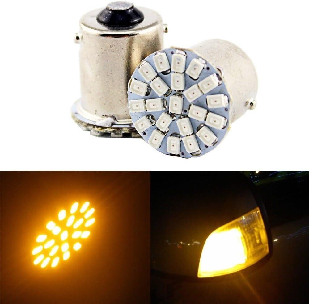 Ladeng Yellow Color 22-EX Chipsets 1156 1141 1003 7506 LED Bulbs Used for RV Camper Back Up Reverse Lights,Tail Lights,Brake Lights Pack of 4