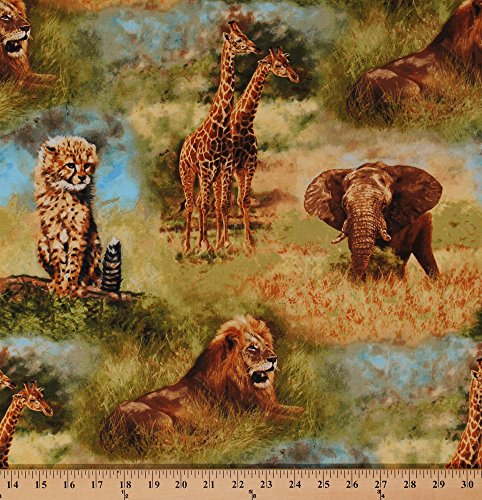 African Safari Fabric - 9