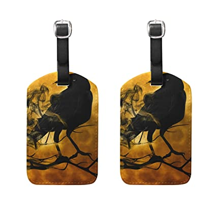 Amazon.com: LORVIES Raven Crow Night Creepy Darkness Luggage ...