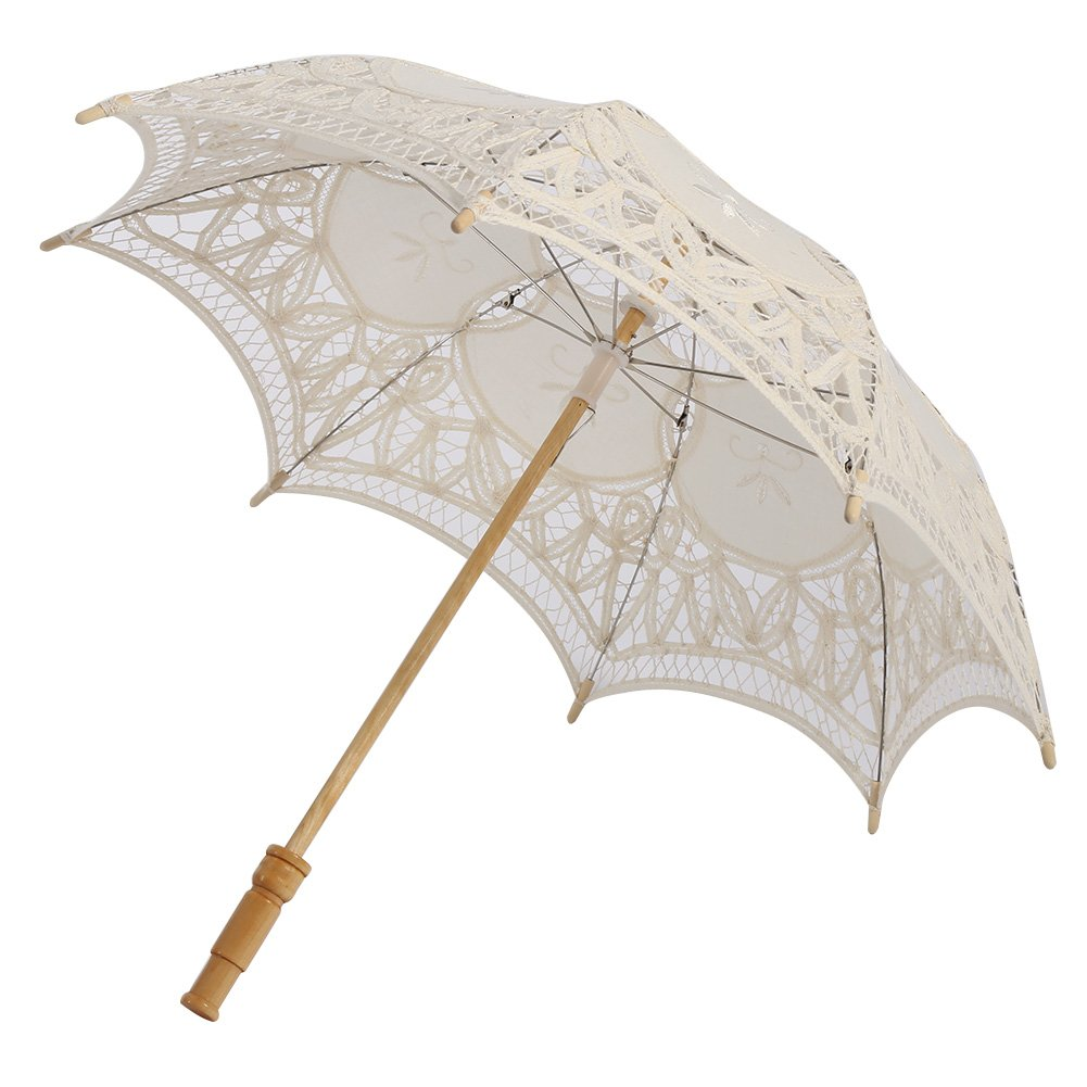 Kids Lace Sun Umbrella,Gsha Handmade Cotton Parasol Umbrella Costume Accessory 3-5Years by Gsha (Image #1)