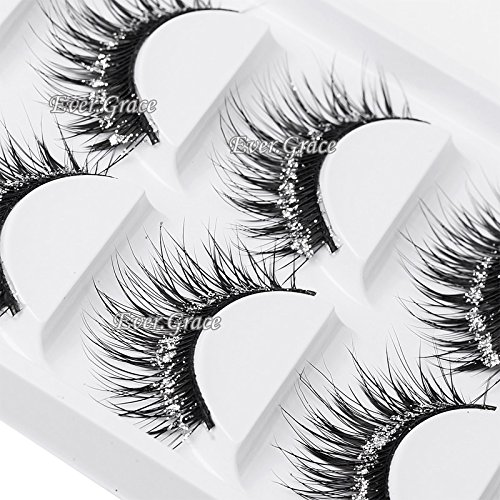 5 Pair Makeup Beauty Shimmer Glitter False Eyelashes Long Thick Natural Handmade]()