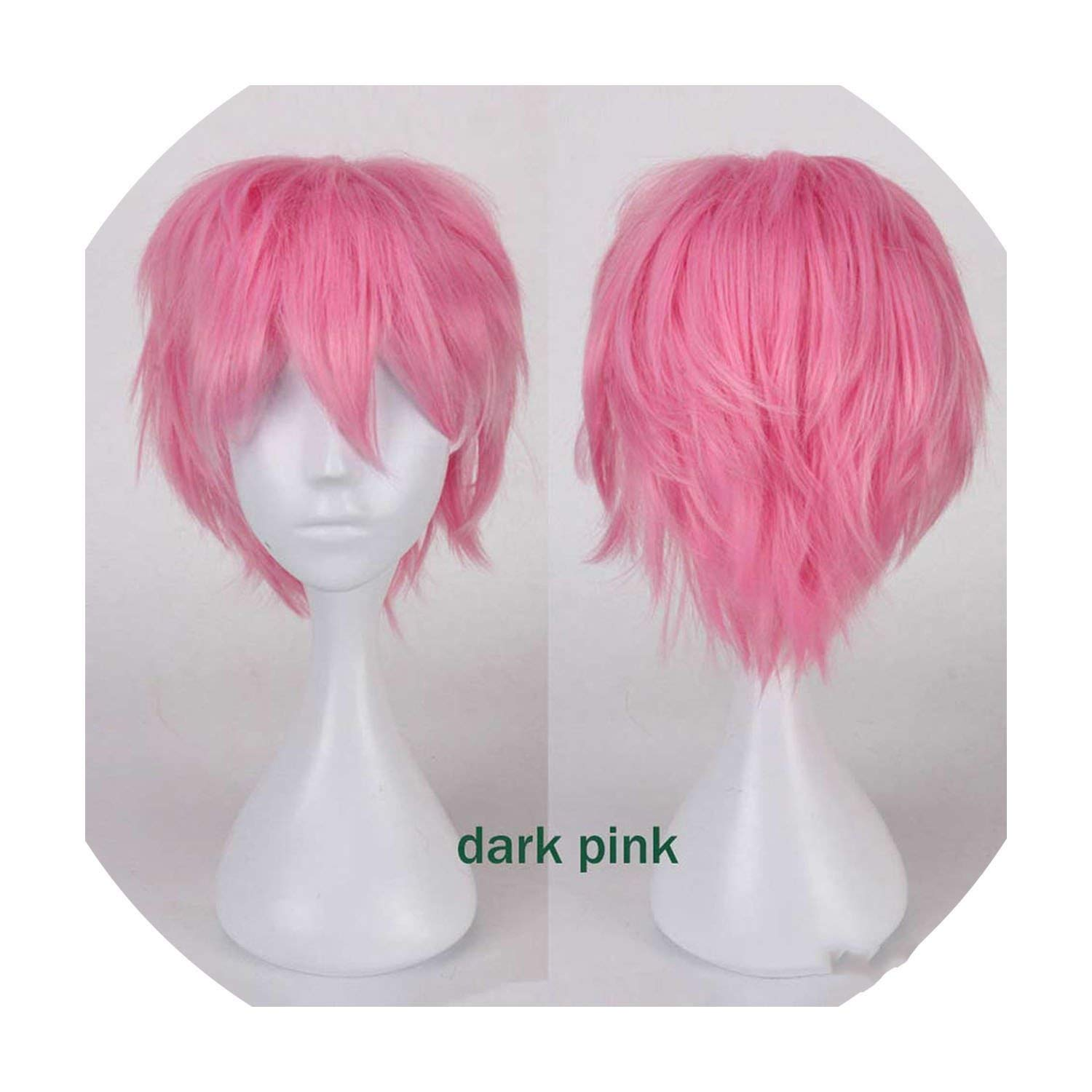 Amazon Com Wigs 12 Short Cosplay Wig Synthetic Hair Wigs Fake Hair For Costume Wig I Guess 12inch Beauty