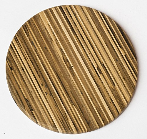 Brazilian Pecan Round Wood Cutting Board 12'' x 3/4'' by Indusparquet (Image #3)