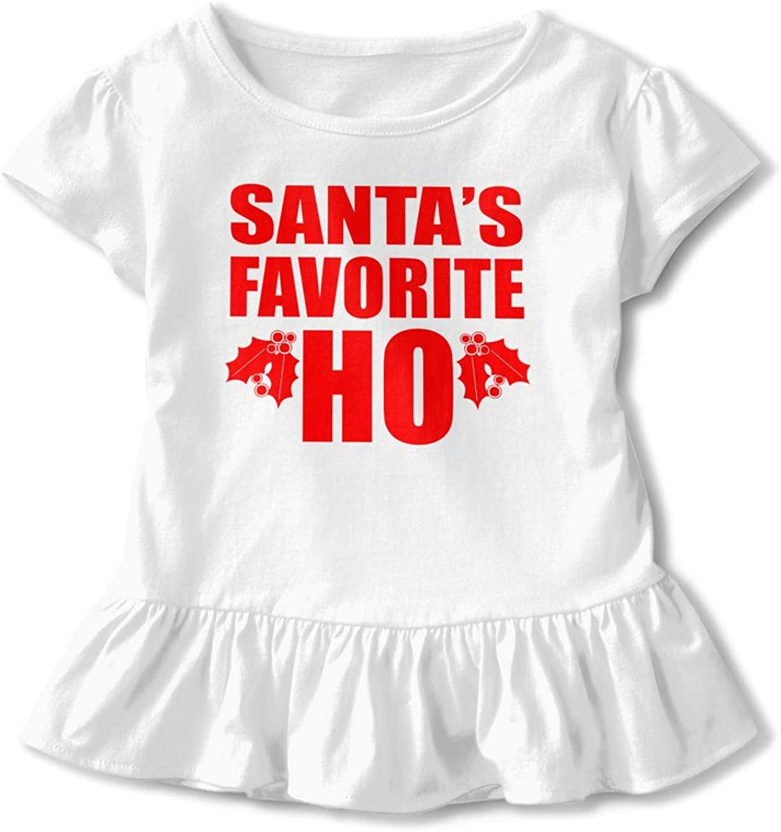 NMDJC CCQ Santas Favorite Ho Ugly Christmas Baby Skirts Cute Kids T Shirt Dress Cotton Flounces Layette