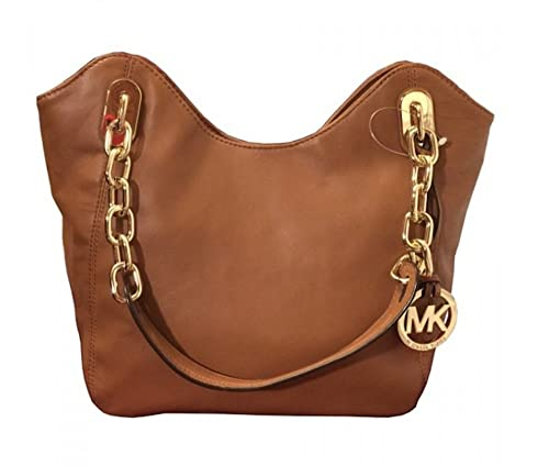 912aed905372 Michael Kors Lilly Leather Medium Tote (Walnut): Amazon.ca: Shoes ...