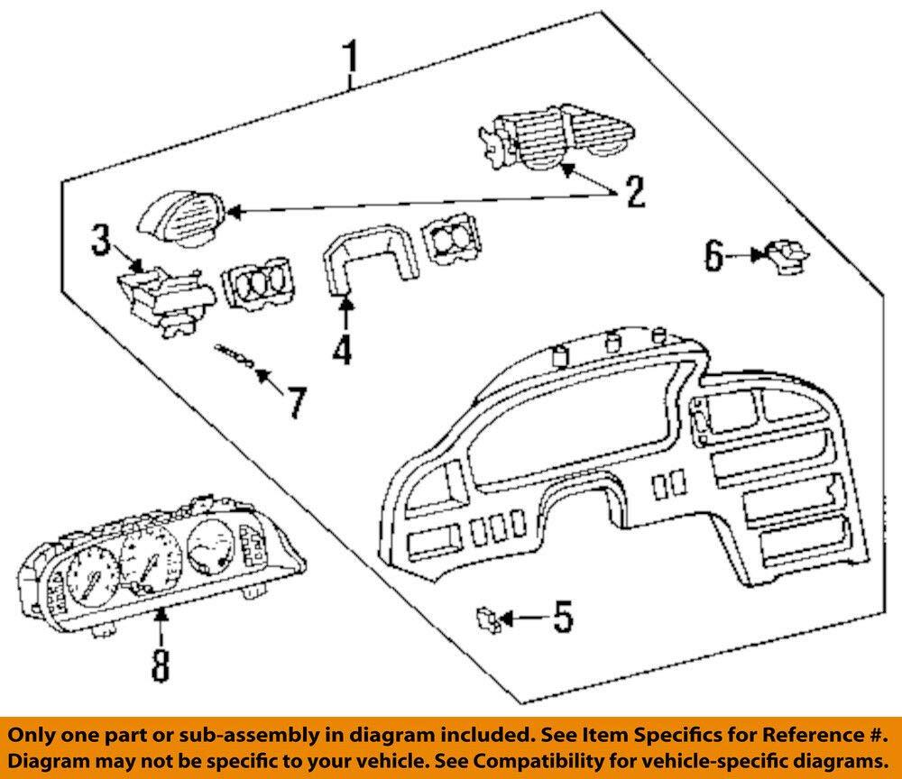 Mazda OEM 95-97 MX-6 Instrument Panel-Assembly GC1V55420A by Mazda (Image #1)