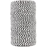 JAM Paper Twine - Black & White Baker's Twine - 109 Yards - Sold Individually