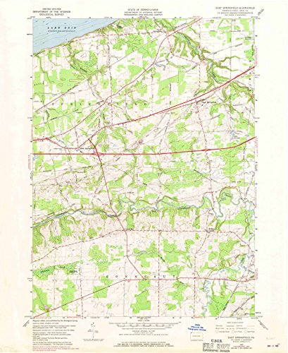 Pennsylvania Maps |1959 East Springfield, PA USGS Historical Topographic Map |Fine Art Cartography Reproduction - Map Pa Of Springfield
