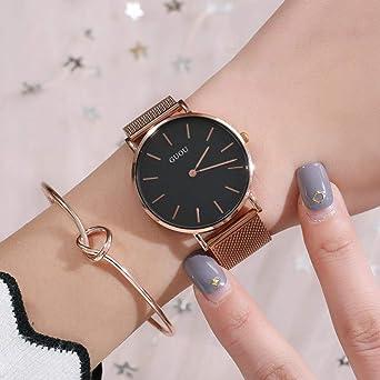 Relojes para Mujeres Elegante, Minimalista, Esfera Grande, Correa ...