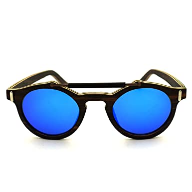 Mode Männer Und Frauen Nase Retro Metall Sonnenbrillen,Blue