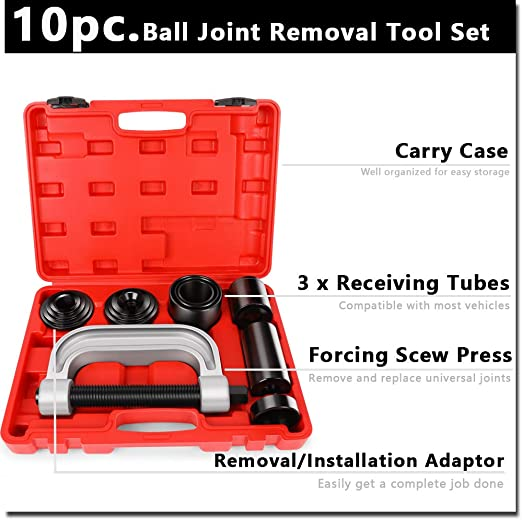Dodge Camoo 21PCs Master Ball Joint Press U-Joint Puller Remover Auto Service Adapter Tool Kit Universal for 2WD// 4WD Vehicles for Ford GM IHC Jeep.