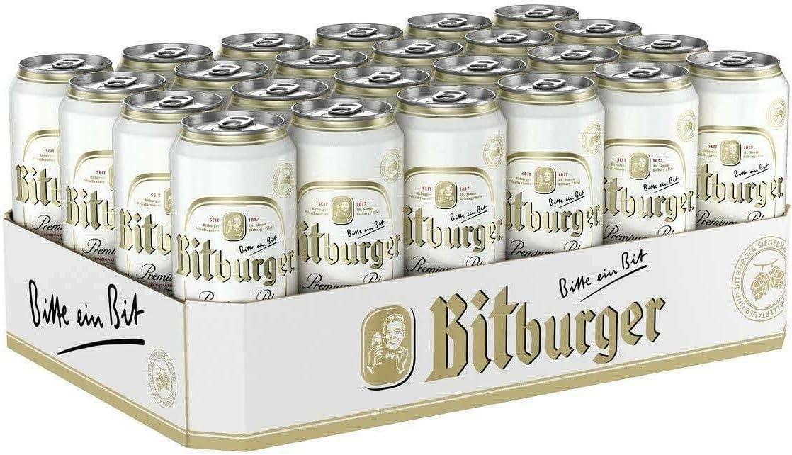 Bitburger Pils 24 x 0,33 l latas 4,8% vol. Cerveza, cerveza