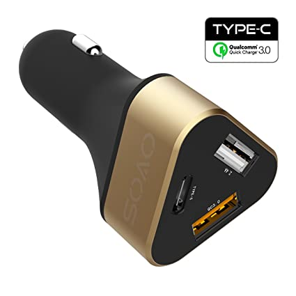 QC 3.0 Car Charger iPhone 11 Xs XR Costyle 3 Pack 30W Dual 2 USB Car Charger Fast Adapter with Quick Charge 3.0 Port and 3.1A Port Compatible for Samsung S9 Note 10 9 Wireless Car Charger Black