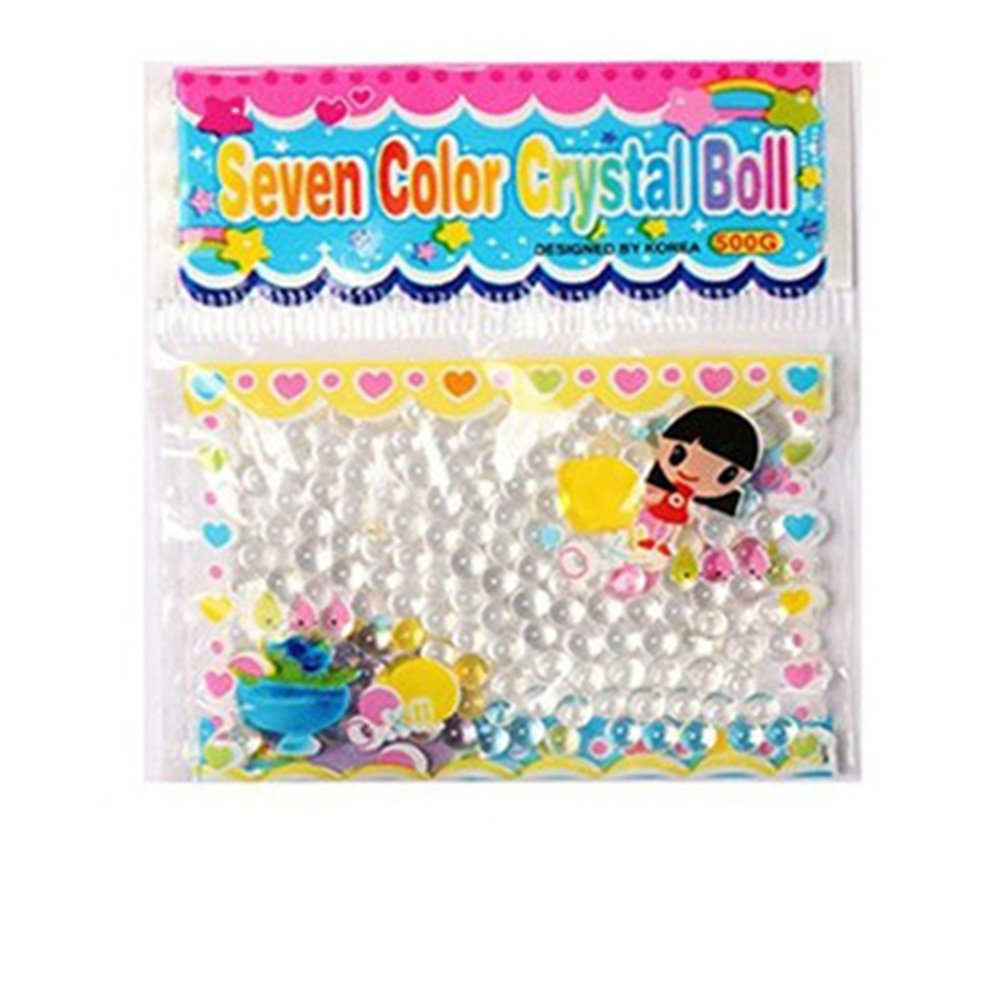 shengyuze 1000Pcs Crystal Pearl Water Plant Beads Bio Hydro Gel Balls Grow Jelly Ball - Clear 1000pcs