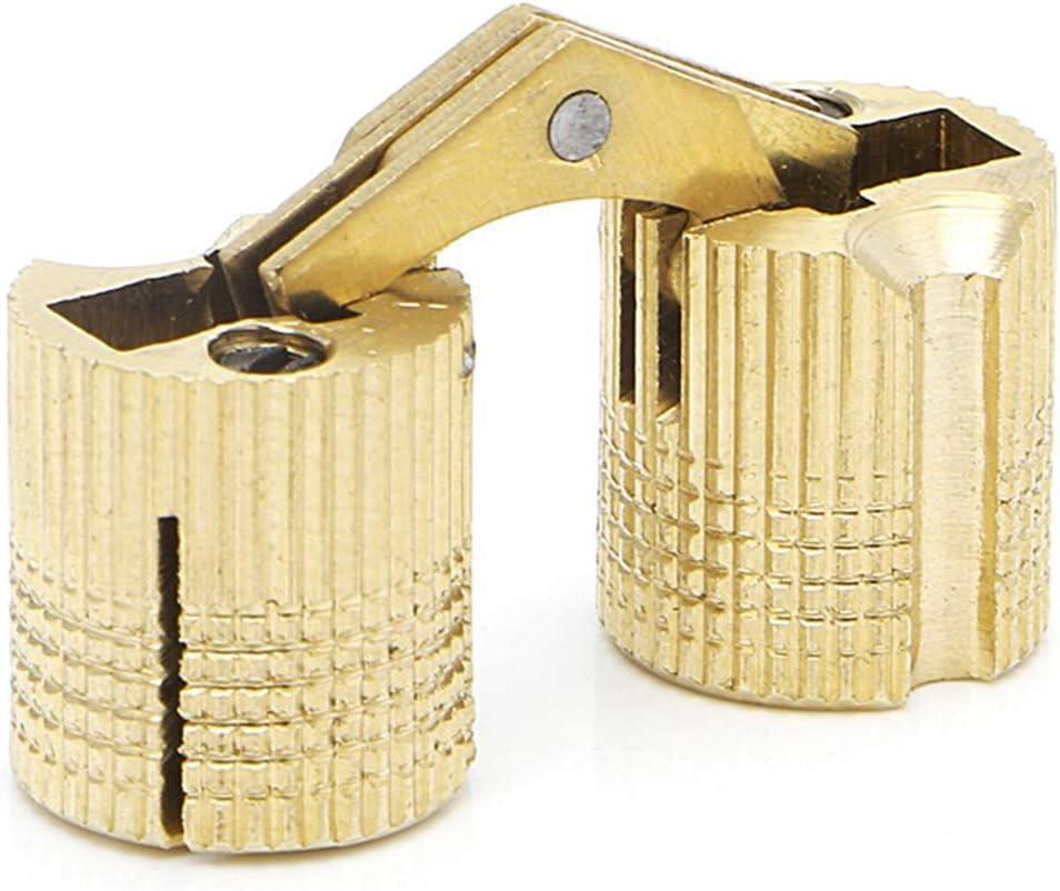 Caja de lat/ón de 14 mm con bisagras ocultas 4 piezas