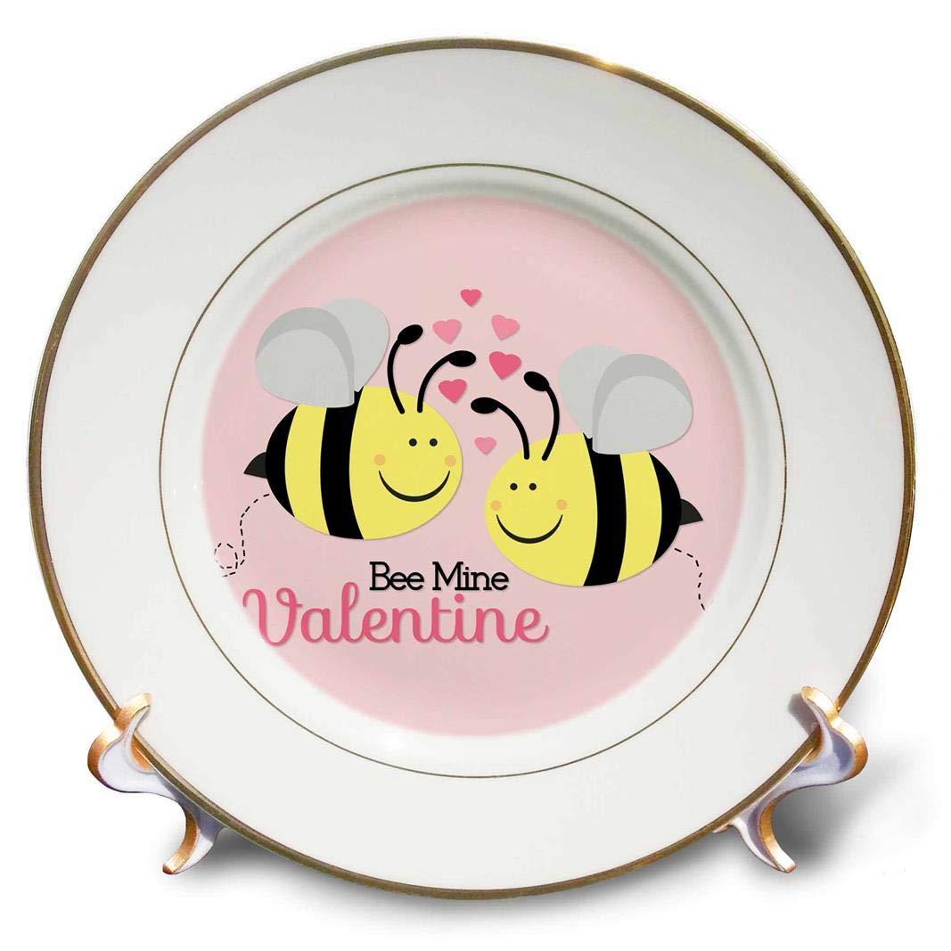 3D Rose Bee Mine Valentine Porcelain Plate 8'