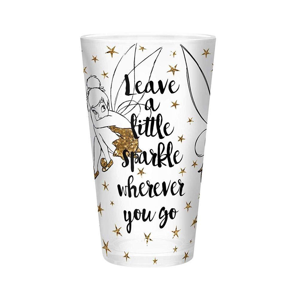 Offizielles Walt Disney Merchandise Sparkle Tinker Bell Trinkglas 500 ml