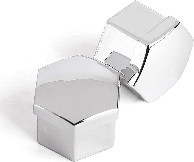 Argento /Kit di 20pcs 19/mm cromato Caperuzas Tappi Copri Coperchio Caps di dadi bulloni Viti per ruota di auto Cerchi in Lega//2pcs pinzette attrezzi per extaer Cle de tous/