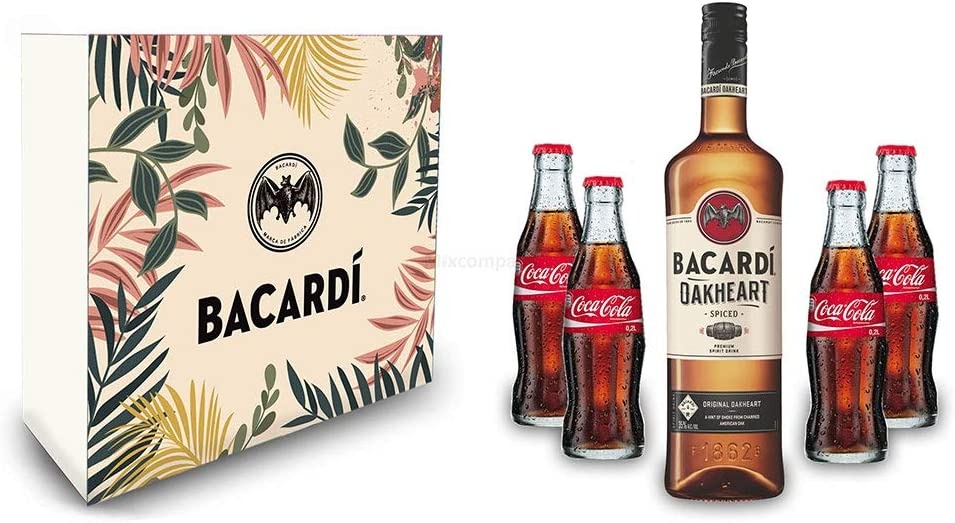 Bacardi Rum - Juego de 2 Vasos Altos de plástico con luz LED ...