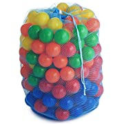 F&W Plastic Soft Air-Filled Pit Balls (Pack of 200), 5 Bright Colors