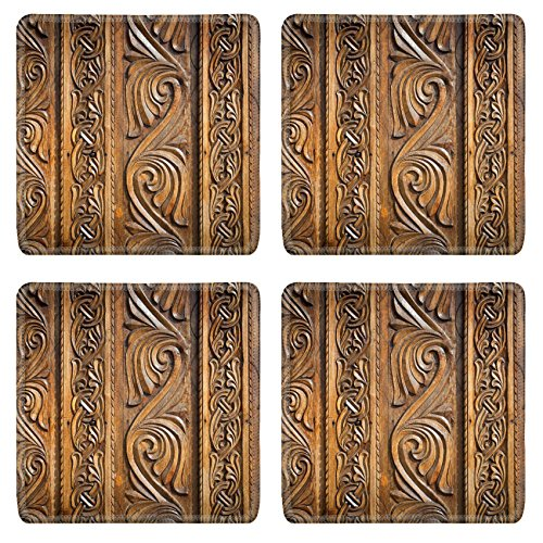 liili-natural-rubber-square-coasters-image-id-39228421-abstract-floral-decoration-carved-on-a-wood-d