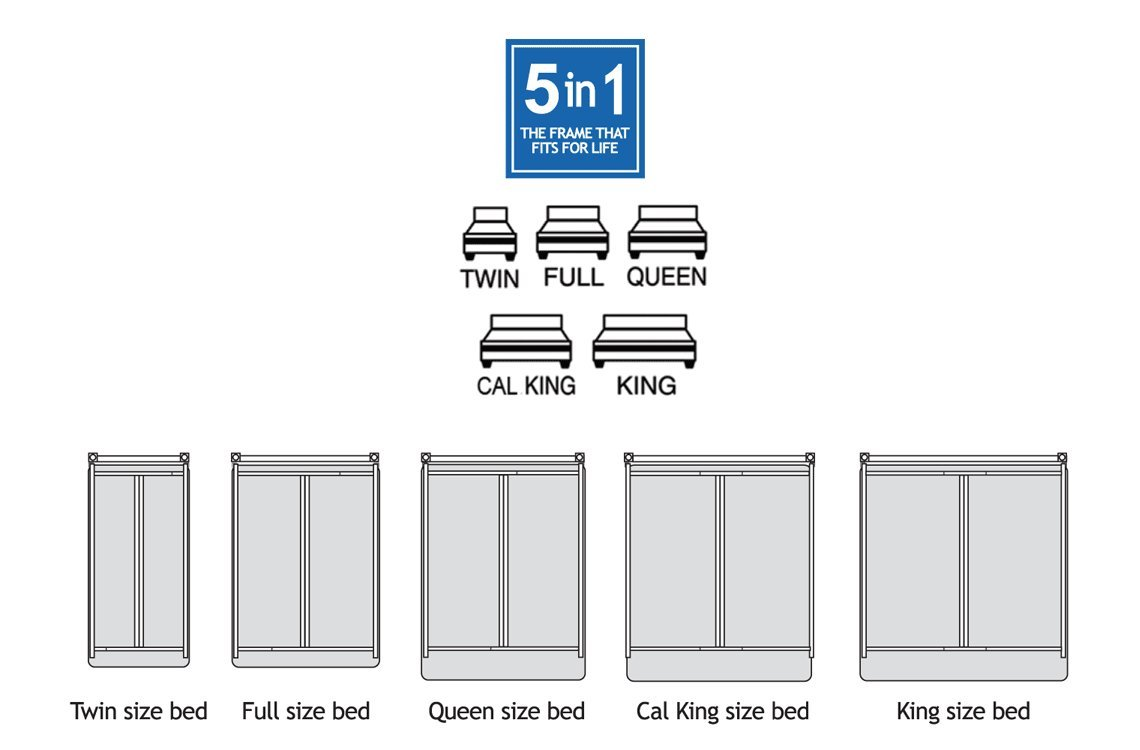 Queen bed dimensions in feet - Amazon Com Metal Bed Frame Monster Heavy Duty Adjustable Frame For Twin Full Queen King California King Kitchen Dining