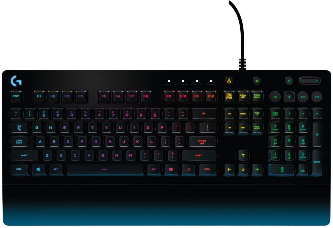 Logitech G213 Gaming Keyboard with Dedicated Media Controls, 16.8 Million Lighting Colors Backlit Keys, Spill-Resistant and Durable Design by Logitech
