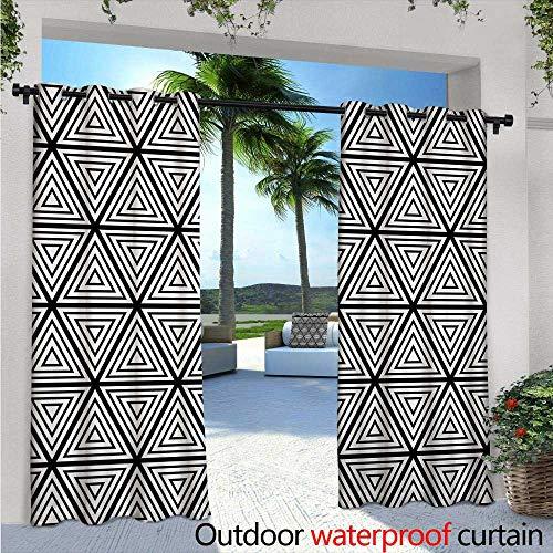 BlountDecor Abstract Balcony Curtains W84 x L84 Geometric
