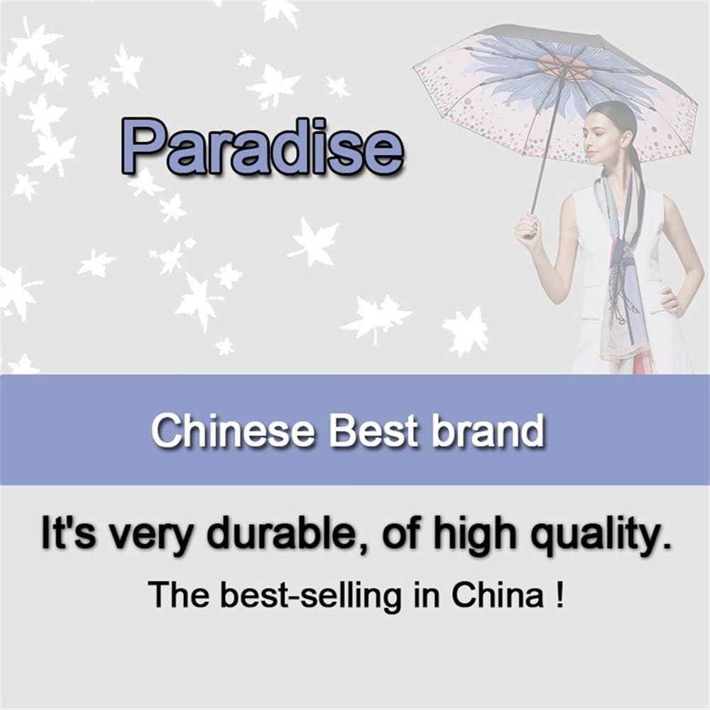 XIANGNAIZUI Quality Folding Umbrella for Women Brand Travel Anti-UV Windproof Rain Flower Female Sun Girl Parasol Pocket Umbrellas Color : 33533 Blue