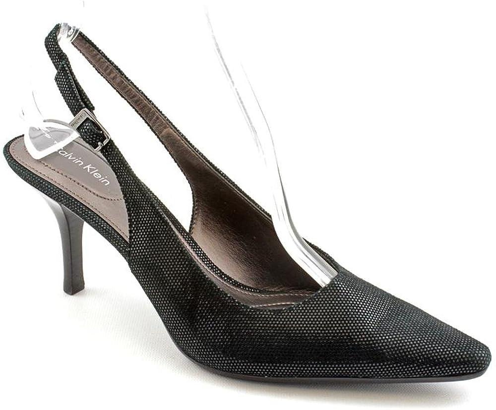Nubuck Leather Slingbacks Heels Shoes