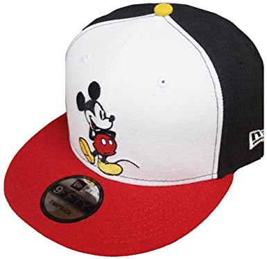 f6dbad4a089 Image Unavailable. Image not available for. Color  New Era Mickey Mouse WH  Black White Red Snapback Cap 9fifty Limited Edition