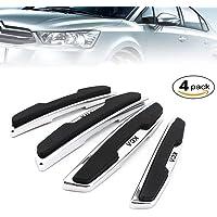 Lychee 4 Pièces Voiture Bord de Porte Protection Bandes Autocollant,Haute Qualité/Adhésif Puissant/Anti-frottement/Anti-Collision/Compatibilité universelle pour tous les véhicules (Noir)