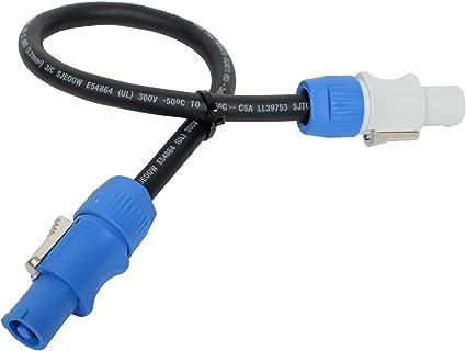 Elite Core Neutrik PowerCon Power Extension Cable 1.5 ft PC12-AB-1.5 Made in the USA Elite Core Audio