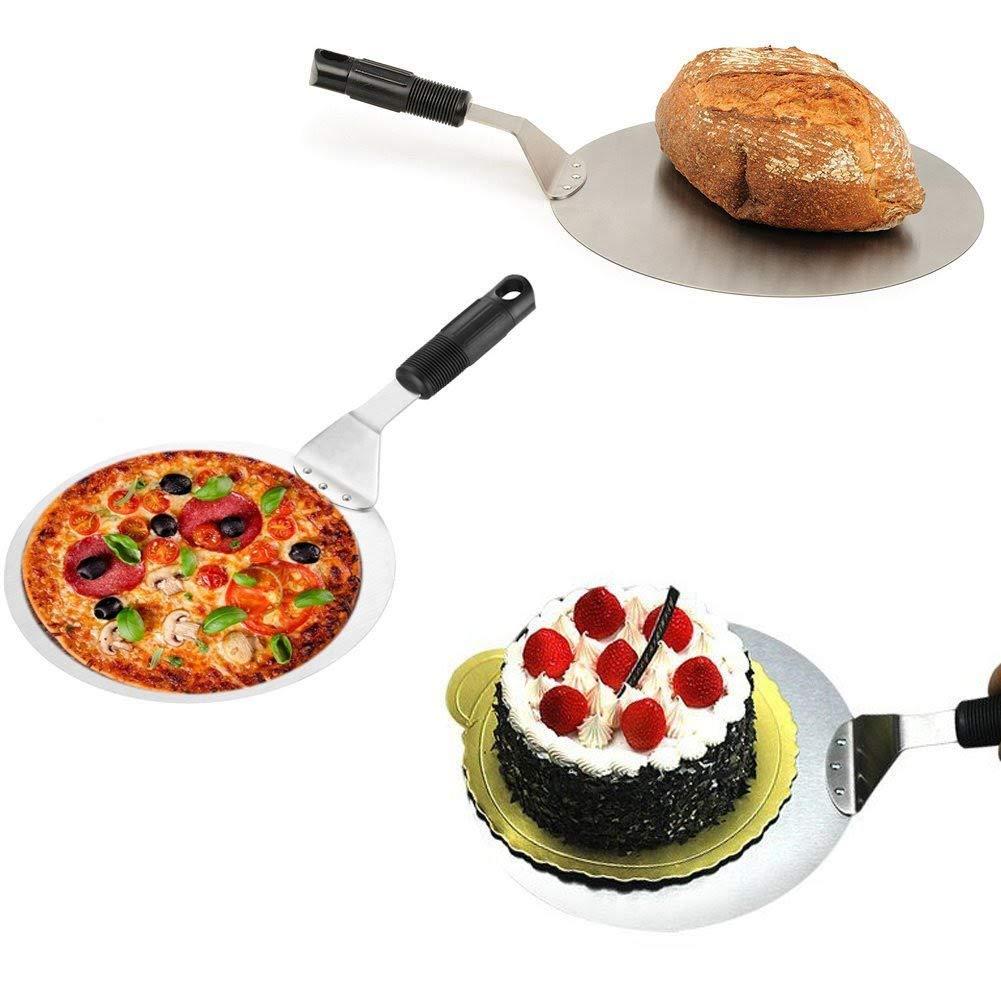 P/âte /à pizza /à peler dynamique Premium Pizza /à peler Forme ronde Cake Pelle Outils de cuisson id/éals pour la cuisson au four /à pizza sur pierre