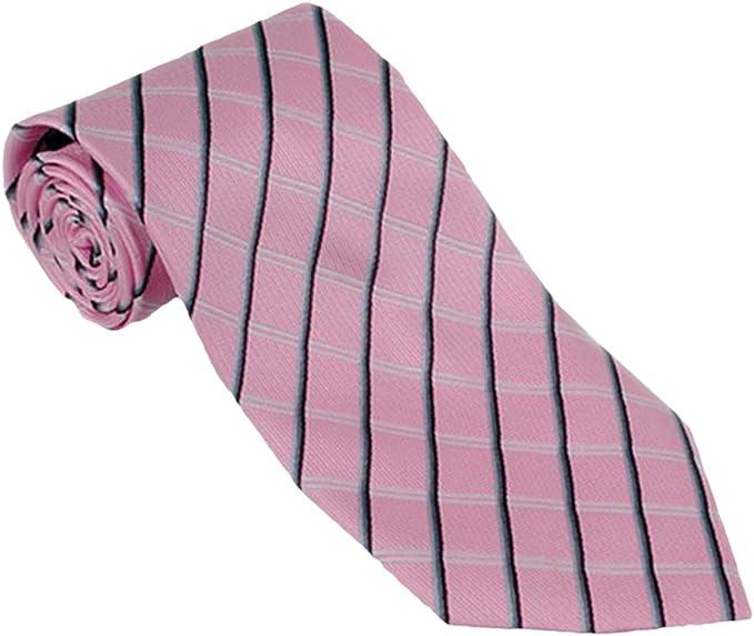New Classic Striped Paisley Pink Blue JACQUARD WOVEN Silk Men/'s Tie Necktie