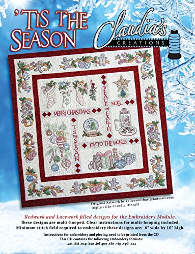 Tis the Season Designs for the Embroidery Machine by Claudia's Creations