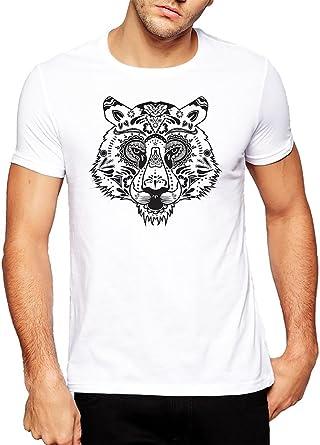 Cabeza de tigre diseño de obras de arte camiseta para hombre ...
