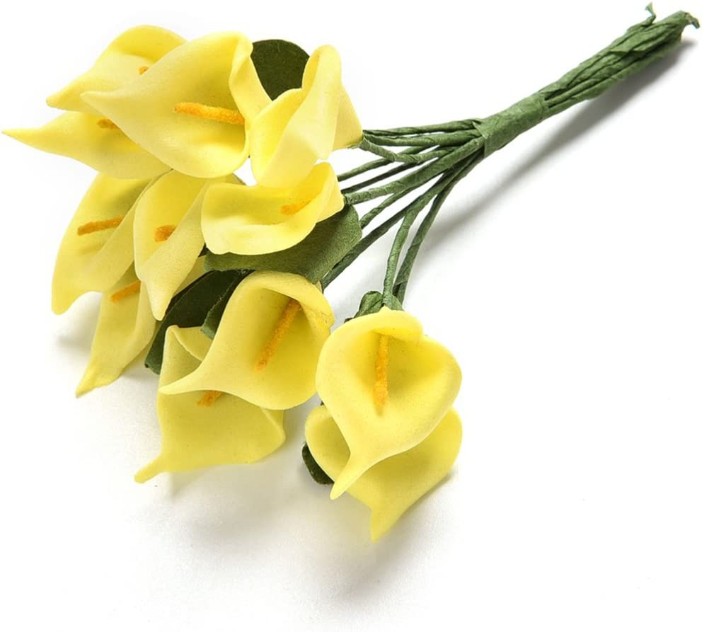 Taille unique rose Woopower Lot de 12 Fleurs d/'Arum artificielles color/ées En latex Pour bouquet de mari/ée Sensation r/éelle