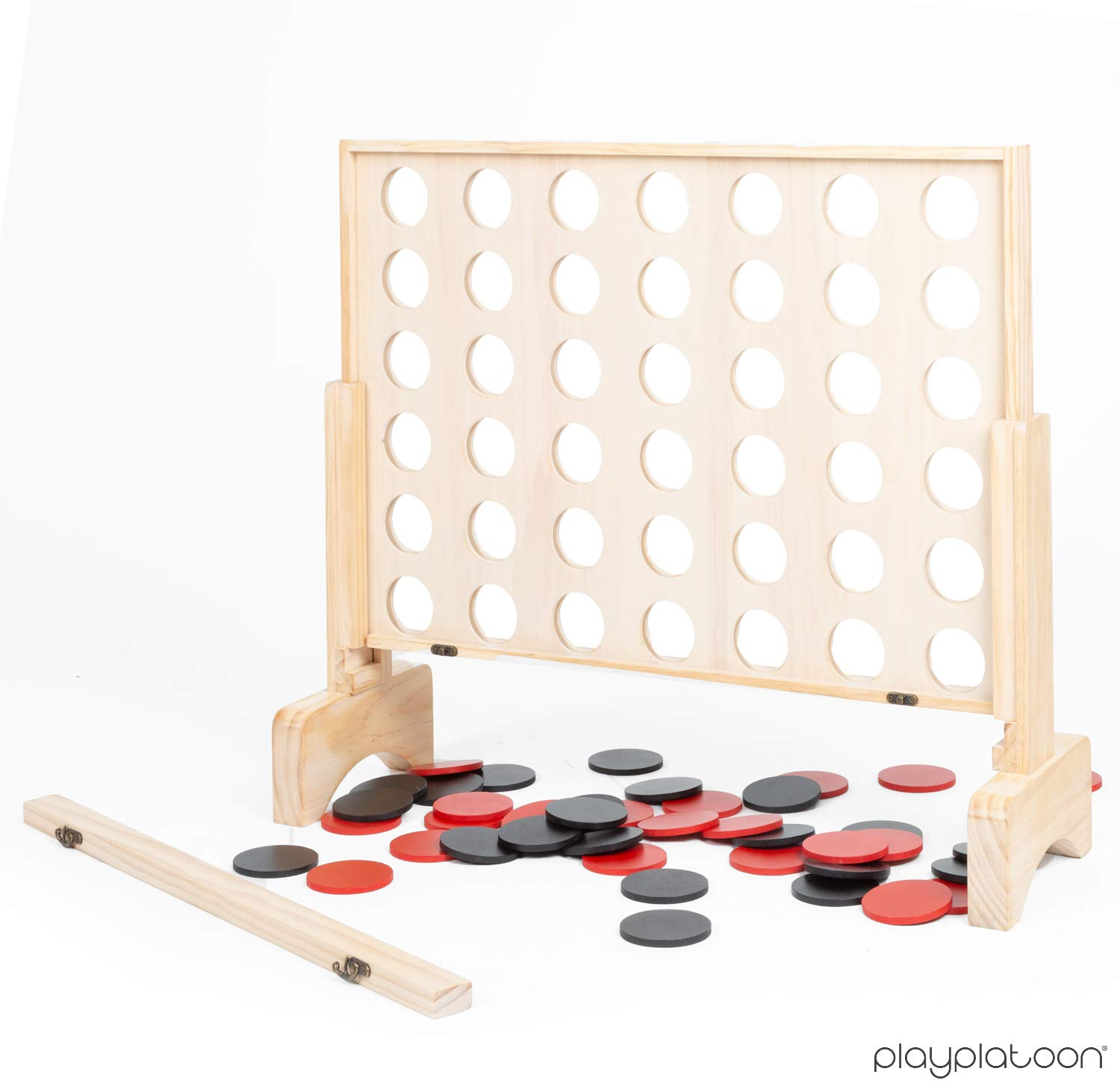 Four in a Row Wins Play Platoon Giant Wooden Drop 4 Outdoor Game