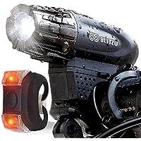 BLITZU Gator 320 USB Rechargeable Bike Light Set Powerful...