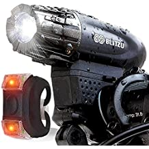 Blitzu Gator 320 USB Rechargeable Bike Light Set - Best Bike Headlight Under $50
